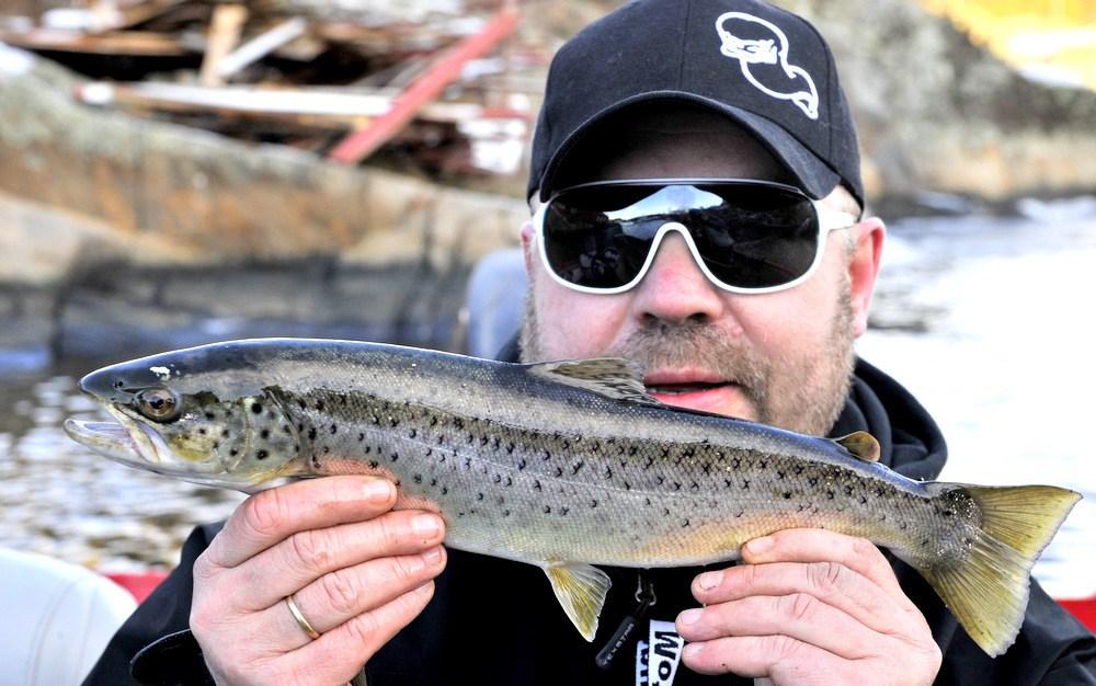 Den første av flere dager med Sjøørret fiske. (video)