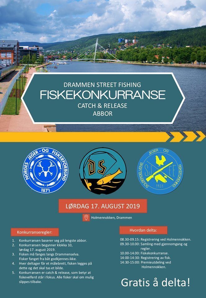 Drammen Street Fishing C&R abborkonkurranse 17. august