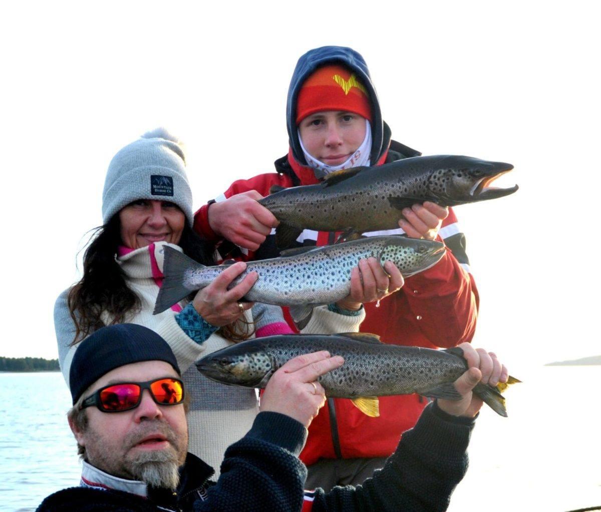 Ørretfiske på Mjøsa 19. Januar.