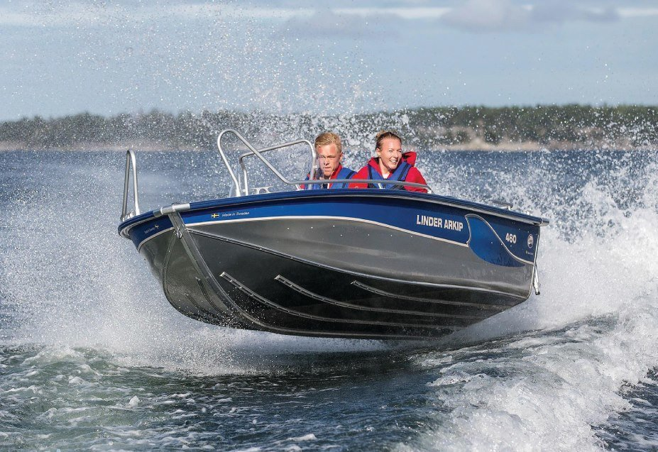 Linder Arkip 460. Et flott sportsfiskebåt